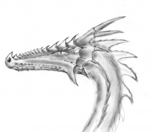 Dragon design sideview
